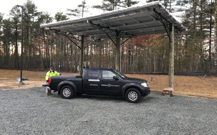 West Wareham Timber Pile Solar Canopy