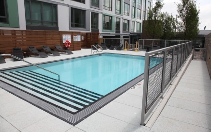 Troy rooftop apartment pool