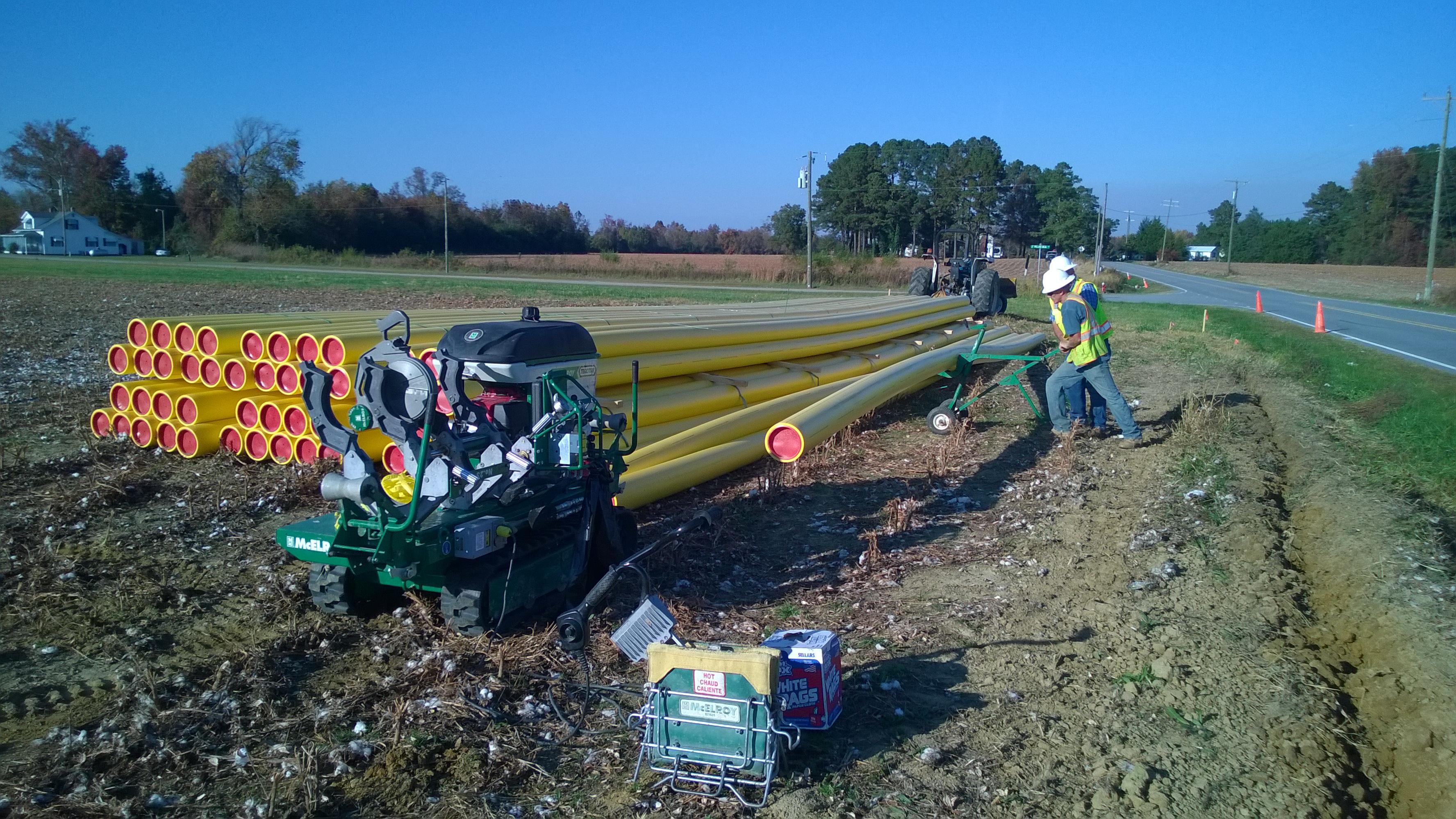 Northampton County (NC) polyethylene gas distribution extension