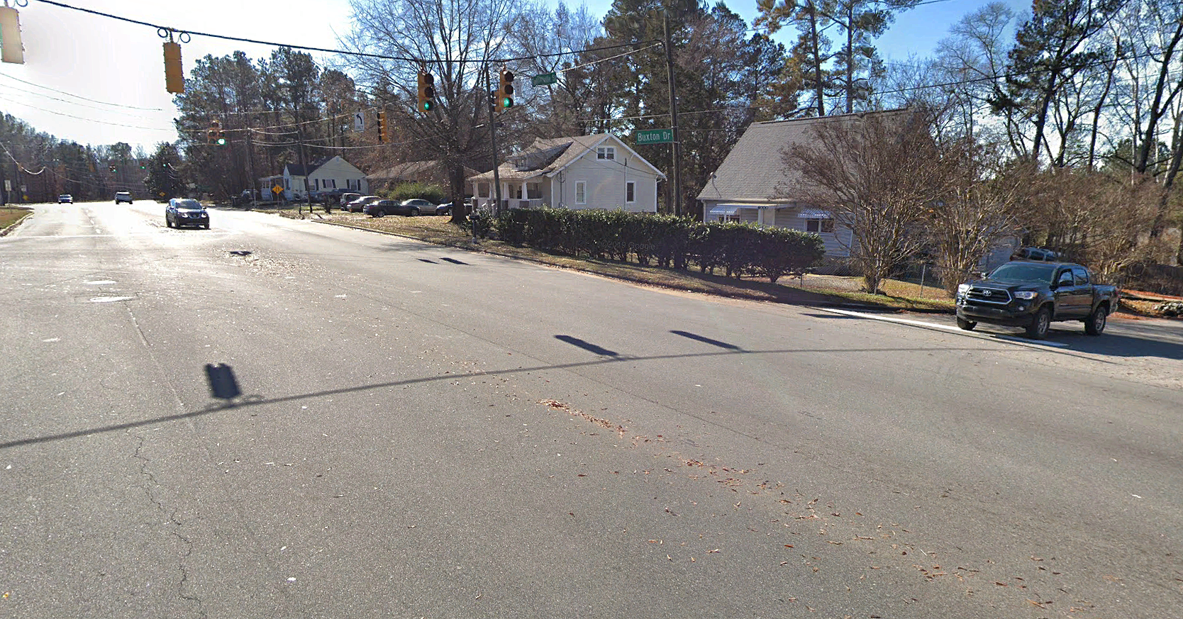 Level B SUE services at Fayetteville Road and Buxton Drive Intersection, Durham, NC