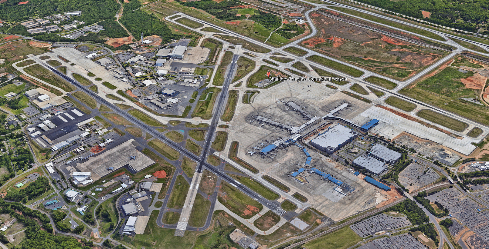 Gas Line Relocation at Charlotte-Douglas International Airport (CLT) Intermodal Facility