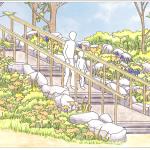 Hudson Shore Park Stone Staircase