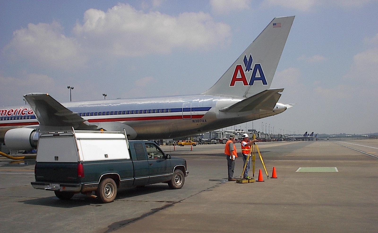 Taxiways surveys Dulles International Airport